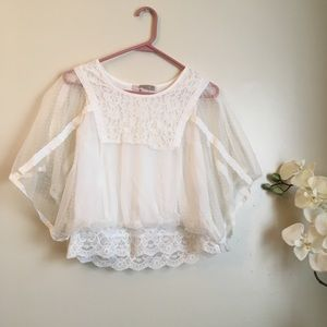XXI Contemporary Lace Batwing Blouse